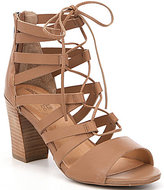 Me Too Adam Tucker by Manda Lace-Up Leather Gladiator Sandals