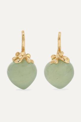 OLE LYNGGAARD COPENHAGEN Dew Drops 18-karat Gold Aquamarine Earrings - one size