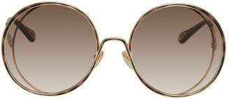 Chloé Gold Hannah Round Sunglasses