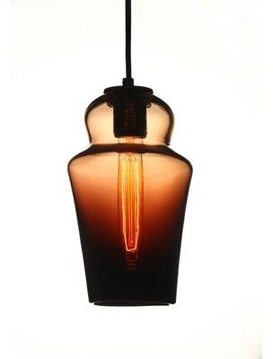 Viz Glass Vintage 1-Light Single Geometric Pendant