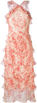 Vilshenko ruffled floral print dress - women - Silk - 10
