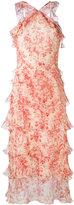 Vilshenko ruffled floral print dress - women - Silk - 8