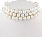 Splendid Pearls Silver 10-11Mm Shell Pearl Choker Necklace