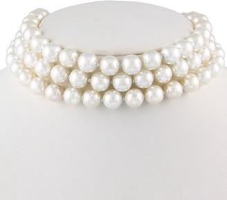 Splendid Pearls Silver 10-11Mm Shell Pearl Choker Necklace