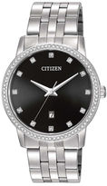 Citizen Mens Stainless Steel Crystal-Accent Bracelet Watch BI5030-51E