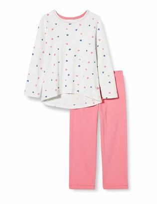 Sanetta Girls' Schlafanzug Ecru Melange Pajama Set