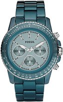 Fossil Women's CH2706 Quartz Chronograph Aluminum Aqua Dial Watch