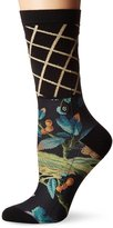 Stance Women's Tweets Mcgee Floral Lattice Arch Support Everyday Crew Sock