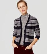 LOFT Petite Jacquard Stripe Jacket