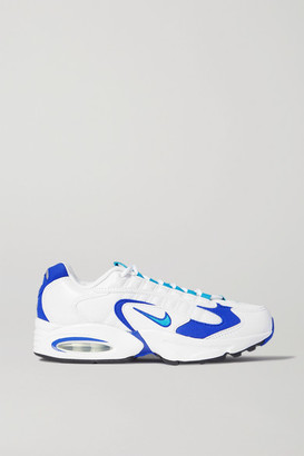 Nike Air Max Triax Mesh, Faux Leather And Felt Sneakers - White