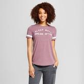 Xhilaration Women's Sleep Well Dream Often Sleep T-Shirt Maroon