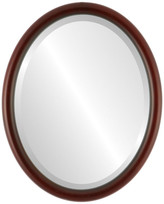 """The Oval And Round Mirror Store Pasadena Framed Oval Mirror in Rosewood, 13""""x17"""""""