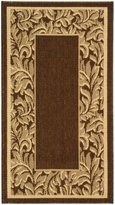 "Safavieh Courtyard Collection CY2666-3009 Brown and Natural Indoor/ Outdoor Area Rug, 2 feet 7 inches by 5 feet (2'7"" x 5')"