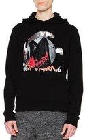 Maison Margiela Band Logo-Patch Hooded Sweatshirt, Black
