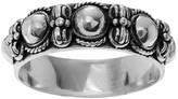 Journee Collection Women's Bali Style Band in Sterling Silver - Silver