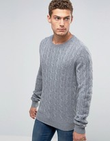 Tommy Hilfiger Jumper With Cable Knit In Grey