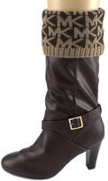 MICHAEL Michael Kors MK Cuff Sock Women Wool US S Brown Boot Socks