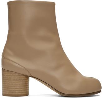 Maison Margiela Beige Mid Heel Tabi Boots