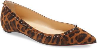 Christian Louboutin Anjalina Kitty Studded Pointed Toe Flat