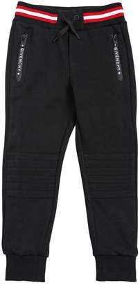 Givenchy COTTON SWEATPANTS WITH LOGO DETAILS
