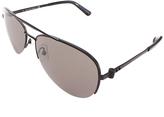 Calvin Klein Black Aviator Sunglasses - Adult