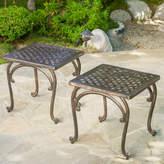 Home Loft Concepts Potenza Cast Aluminum Outdoor Side Table