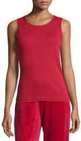 Joan Vass Cotton Ribbed Tank Top, Plus Size