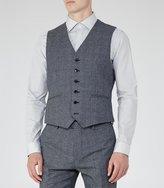 Reiss Morrow W - Mottled Wool Waistcoat in Blue, Mens