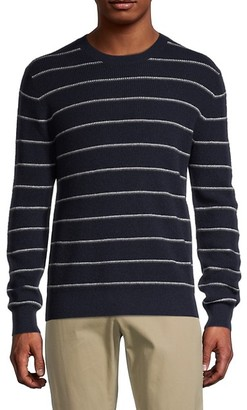 Vince Stripe Wool Cashmere Sweater