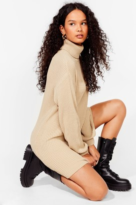 Nasty Gal Womens On a Roll Knitted jumper Dress - Black - S, Black