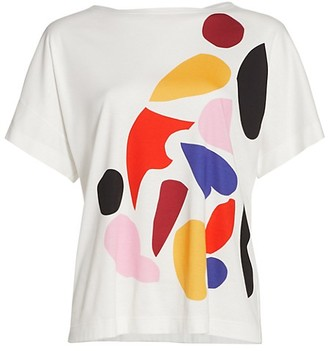 Akris Punto Oversized Color Printed T-Shirt