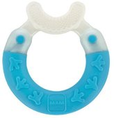 Mam Bite and Brush Teether, Blue, 3 Plus Months by