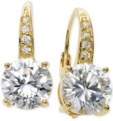 Giani Bernini Cubic Zirconia Leverback Earrings in 18k Gold over Sterling Silver