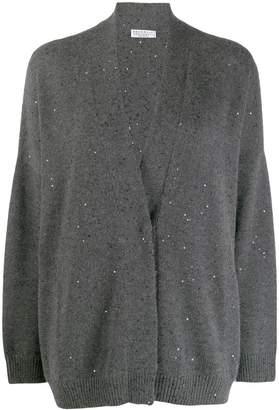 Brunello Cucinelli sequin embroidered cardigan
