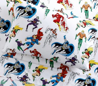 Pottery Barn Kids Glow-in-the-Dark Justice League Sheet Set & Pillowcases