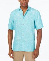 Tasso Elba Men's Jacquard Palm Tree Shirt, Only at Macy's