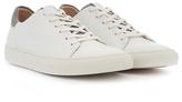 Sam Edelman White & Gray Garett Leather Sneaker