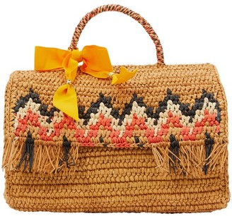 Sensi Zigzag basket with fringes