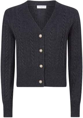 Sandro Cable-Knit Cardigan