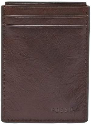Fossil Neel Magnetic Leather Card Case