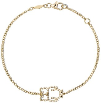 Kiki McDonough 18kt yellow gold Memories diamond owl bracelet