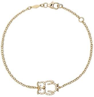 Kiki McDonough 18kt yellow gold Memories diamond owl bracelet
