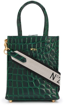 No.21 Nano Crocodile-Effect Logo Shopper