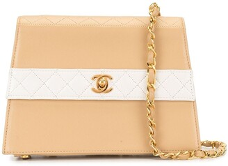 Chanel Pre Owned 1990s Diamond-Quilted Chain Shoulder Bag