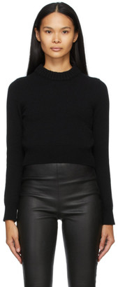Alexander McQueen Black Cashmere Cropped Sweater