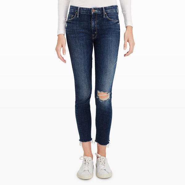 Club Monaco Mother Looker Ankle Fray