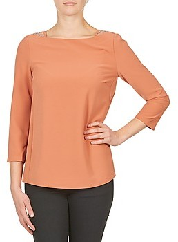 Color Block 3214723 women's Long Sleeve T-shirt in Orange