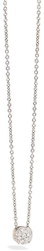 Pomellato Nudo Necklace with Diamonds in 18K Rose and White Gold