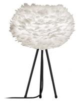EOS Umage UMAGE - Medium White Feather Black Tripod Table Lamp - Black/White
