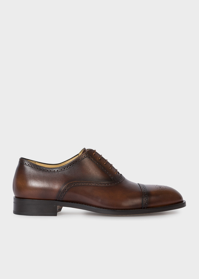 Paul Smith Men's Brown Calf Leather 'Sonnet' Oxford Shoes